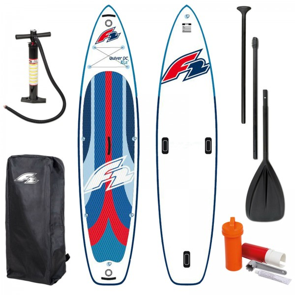 F2 QUIVER DC SUP 2021 STAND UP PADDLE BOARD + PADDEL + BAG + PUMPE