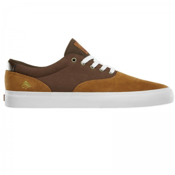 EMERICA THE PROVOST SLIM VULC TAN BROWN WHITE HERREN SNEAKER SCHUHE