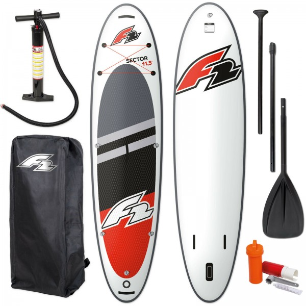 F2 SECTOR SUP RED 2021 STAND UP PADDLE BOARD + PADDEL + BAG + PUMPE