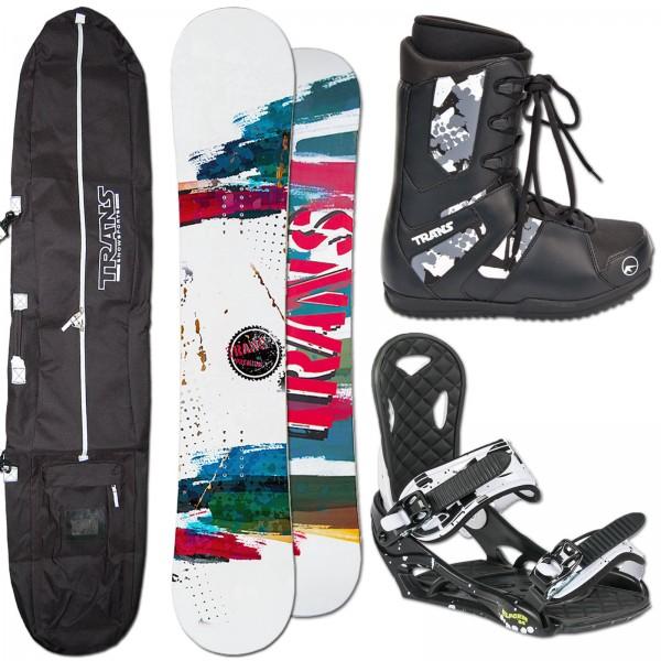 TRANS SNOWBOARD PREMIUM MAN + ELFGEN ECO BINDUNG + BAG + BOOTS
