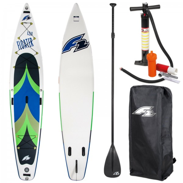 F2 SUP FLOATER 2020 STAND UP PADDLE BOARD AUFBLASBAR + PADDEL & PUMPE