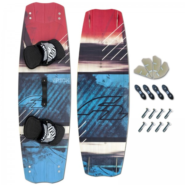 CROSSOVER KITEBOARD ~ F2 TRICK + F2 PADSET + FINNEN + HANDLE
