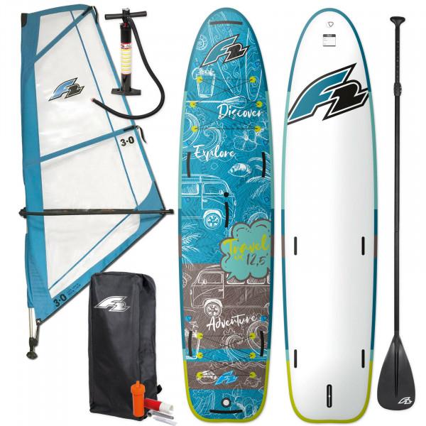F2 SUP Travel Windsurf 12,5' Komplett-Set & F2 Checker Rigg 3,0 m²